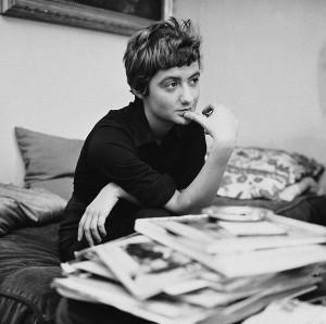 """Françoise Sagan (1935-2004), écrivain français, au moment de la sortie de """"Bonjour Tristesse"""", 1954."""