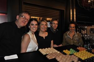 de g. à d.: Pierre Blanchot, Eleonore De Poortere,  Odile Habel, Thierry Desbaillet, Sophie Dujerdil