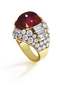 A Burmese Ruby and Diamond 'Trombino' Ring, by Bulgari, 14.38 carats