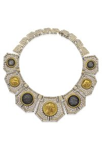 An Ancient Coin, Diamond and Gold Necklace, by Massoni