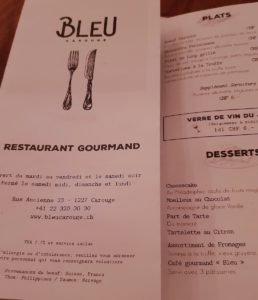 bleu menu