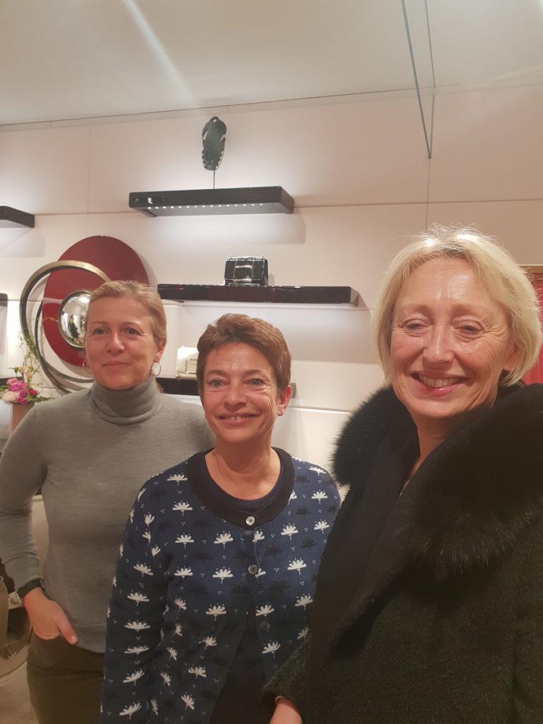 De g. à d. Marine Lemonnier, Corinne Celeyron, Corinne Paget-Blanc